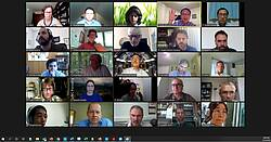 Photo showing the participants of the virtual IUFRO Division 3 Officeholders Meeting, held on September 15, 2020 and hosted by Division Coordinator, Woodam Chung. Photo Credit: Rene Zamora-Cristales.