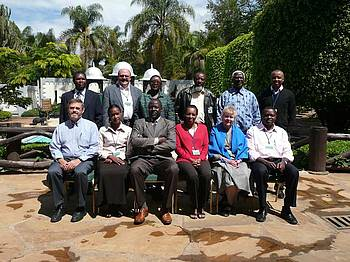Photo of the participants of the Task Force workshop to initiate the Policy Brief: Making Sub-Saharan Forests Work for People and Nature