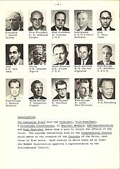 Photo showing Page 3 of the 1972 IUFRO News with some of the Board members of the time.