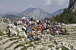 Photo showing participants during Scientific study tour after 24th IUFRO Conference for Specialists in Air Pollution and Climate Change Effects on Forest Ecosystems; Antalya, Turkey; 2010.