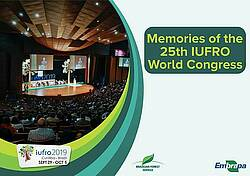 Photo showing the cover of the Memorias/Congress Report of the XXV IUFRO World Congress, Curitiba, Brazil, 2019.