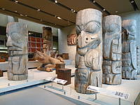 Photo showing cultural artefacts at the conference dinner, organized on Wednesday evening at one of Canada's foremost cultural attractions, the Museum of Anthropology (MoA) at the University of British Columbia.