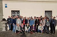 """Photo showing IUFRO Conference """"European Forests – Or Cultural heritage"""", December 2018: Participants in front of the conference venue Monastery St. Georgen am Längsee, Austria. Photo: Walburga Litschauer"""