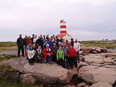 Photo showing participants of the IUFRO meeting on Climate induced range shifts in boreal forest pests and their ecological consequences. Photo: Pierre Bernier.