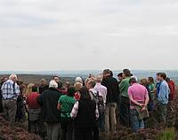 Photo of Field visit to Ramsley Moor in the Derbshire Peak District, UK. (Photo by Christine Handley)