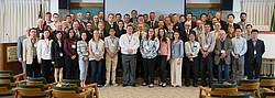 Group photo showing the attendees of the 20th International Nondestructive Testing & Evaluation of Wood Symposium, Madison, WI, USA. Photo: provided by Xiping Wang.