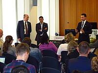 Photo showing Daniel Boehnke of IUFRO Headquarters presenting details of YSI. Photo: Morn'e Booij Liewes, FABI.