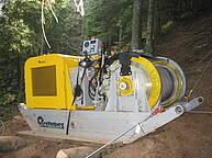 Fully hydrostatic sledge winch, powered by a 97 kW Diesel engine http://www.greifenberg.it/teleferiche.php?l=prodotti