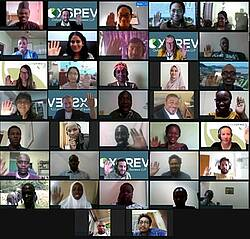 """Photo showing the Participants of the online course """"Systematic Evidence Evaluation on Forest Landscape Restoration"""""""