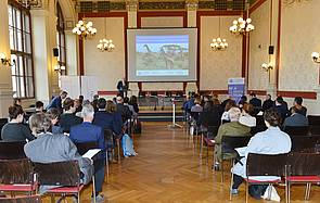 "Photo showing Auditorium of the Austrian World Summit Breakout Session ""Forest Responses to Climate Change: Why African Forests Matter"", Vienna 2019. Photo: William Tadros, BMNT."