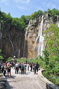 Photo showing Study tour to Plitvice Lakes National Park. Photo: Goran Vincenc, Croatian Forests Ltd.