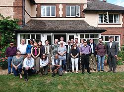 Photo showing the Participants of the 1st Meeting of the Expert Panel on Forests and Water; Cambridge, June 2017.