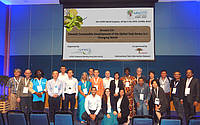 Photo showing Participants of the Teak Session during the XXV IUFRO World Congress; Curitiba, Brazil. Photo: PK Thulasidas.