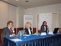 Photo showing Key Speakers of GREEN2014: Davide Pettenella, Dijana Vuletić, Bernhard Wolfslehner. Photo provided by Igor Kolar