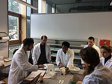 Photo showing young scientists at the University of Natural Resources and Life Sciences, Vienna (BOKU)