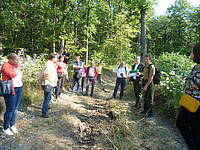 Discussions on forest law implications in the field, Chisinau, Moldova, 2018. Photo provided by Peter Herbst.