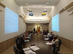 Photo showing Start of the Scoping Meeting of GFEP on Forests and Poverty. Photo: Andre Purret, IUFRO.