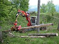 Hybrid (legged-wheeled) harvester, powered by a 140 kW Diesel engine, equipped with a Woody 50 harvester head http://www.euromach.com/public/Products.aspx?Type=0