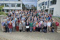 Photo showing More than 140 attendees met at the NDTE of Wood symposium in Freiburg, Germany. Photo credit: Thomas Weidner, FVA.