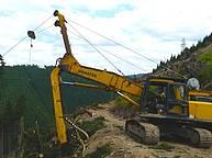 Jammer yarder based on a Komatsu excavator used as processor – 1