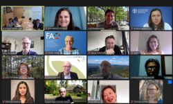 Photo showing Participants of the scoping meeting (screenshot)