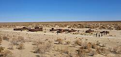 Photo showing Muynak which was a seaport on the Aral Sea, a city in northern Karakalpakstan in Uzbekistan. Source: Ho Sang KANG.