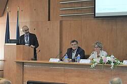Photo showing Elena Paoletti, Coordinator 7.01.00, and Ovidiu Badea, Member of IUFRO International Council and Deputy Coordinator of WP 7.01.01. Copyright: Marin Dracea INCDS.