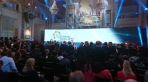 Photo showing Austrian World Summit, Vienna 2019, Opening. Photo: Gerda Wolfrum, IUFRO.