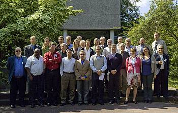 "Picture of the convening lead authors and editors of the forthcoming book ""Future of Forests – Responding to Global Changes"" in Hamburg, Germany 15-18 June 2009."
