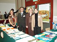 IUFRO European Congress 2007, representatives from left to right: Gerda Wolfrum (HQ), Peter Mayer (HQ), Cindy Miner (TF Deputy), Judith Stoeger (HQ)