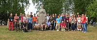 Photo showing Participants at the biannual IUFRO Working Party 8.01.02 Forest Landscape Ecology Conference, 23-30 August 2015, Tartu Estonia.