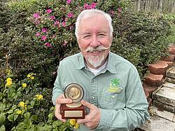 Photo showing Rich Gulding with award. Photo provided by Rich Guldin