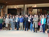 Photo showing Delegates at Museum of Anthropology, UBC during field trip during IUFRO 2017 All Div 5 Conference, Vancouver. Photo: PK Thulasidas