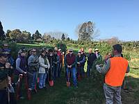 Photo showing participants while Tree planting during the 2018 WP conference in Christchurch. Photo: Eduardo Cartes Rodriguez.