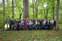 """Photo showing Participants of WP Meeting: """"Recent Changes in Forest Insects and Pathogens Significance""""; Romania 2019 during scientific study tour. Photo: Nicolai Olenici."""