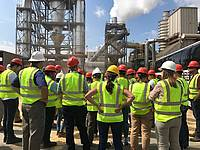 Photo showing the 41st COFE Annual Meeting participants visiting the Enviva Biomass Northampton pellet mill in Garysburg, North Carolina during the field trip. Photo: Chad Bolding.