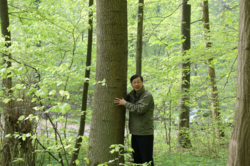 Photo showing Shirong Liu in The Black Forest, Germany. Photo by Cai Daoxiong