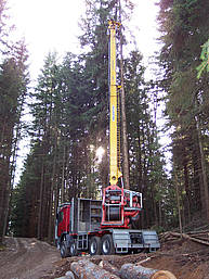 3-4 cables cable yarder, truck mounted, powered by a 104 kW Diesel engine http://www.valentini-teleferiche.it/Content/BaseContent.aspx?CID=10065