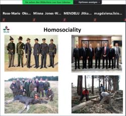 Photo showing a screenshot of a slide from Prof. Gun Lidestav's keynote presentation