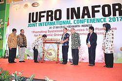 Photo showing Opening of the IUFRO-INAFOR conference, Yogyakarta 2017.