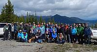 Photo showing Delegates during the scientific study tour of the 2019 conference in Invermere, Canada. Photo: Richard Sniezko.