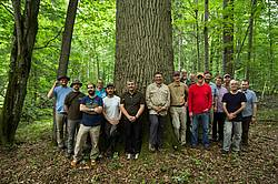 "Participants of the study tour to Białowieża Forest of the 2019 conference ""Forests in Science, Practice and Education"". Photo: M. Sławski."