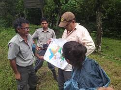 Photo showing Planning restoration in National Parks near Guanacaste Costa Rica. Photo by René Zamora