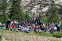 Photo showing IUFRO 2.02.15, 7.02.05 and Strobusphere conference attendees at one of the fieldtrip stops. Photo by Justin Hof