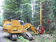 Cable crane Valentini V 600 on excavator Liebherr R 914 B – 2