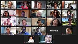 Photo showing Participants of the 2020 INCREDIBLE-IUFRO webinar. Screenshot from Webinar report.