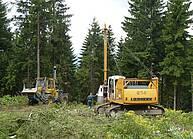 Cable crane Valentini V 600 on excavator Liebherr R 914 B- 1