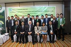 """Photo showing participants of Session """"Forest Landscape Restoration and Land Degradation Neutrality in Asia"""" at the 2016 FAO Asia-Pacific Forestry Week"""