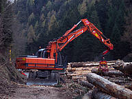 Wheeled excavator, powered by a 122 kW Diesel engine, total weight of 21 700 kg http://www.hcme.com/en/products/excavators/wheeled_excavators Photo credit Giovanni Giovannini