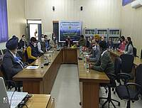 """Photo showing National training program on """"Biophysical and Socioeconomic Interactions in Agroforestry"""". Punjab Agriculture University, Faculty of Forestry, February 16 to March 8, 2021."""